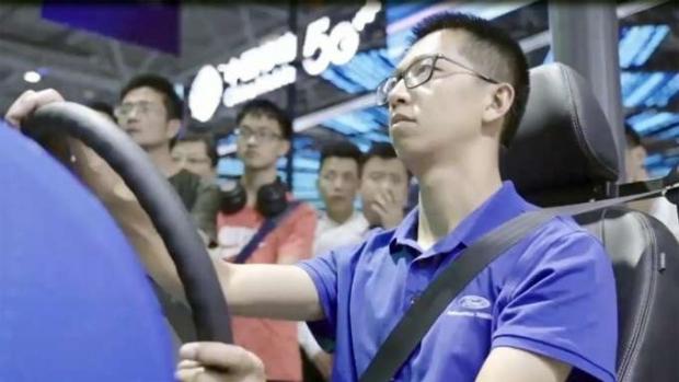 direção remota com 5G, Ford, Smart China Expo