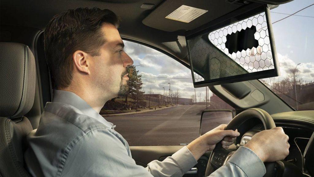Visor Virtual da Bosch, quebra-sol do futuro